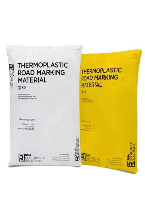2 bags of road marking paint
